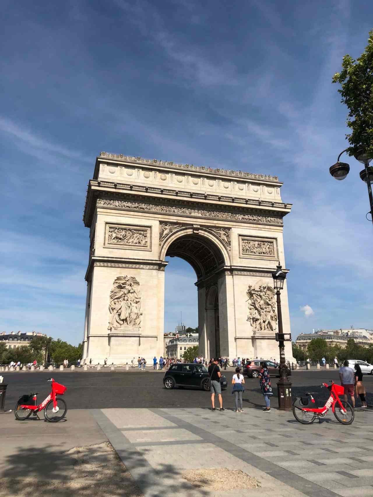 Arc de Triumph Paris roundabout