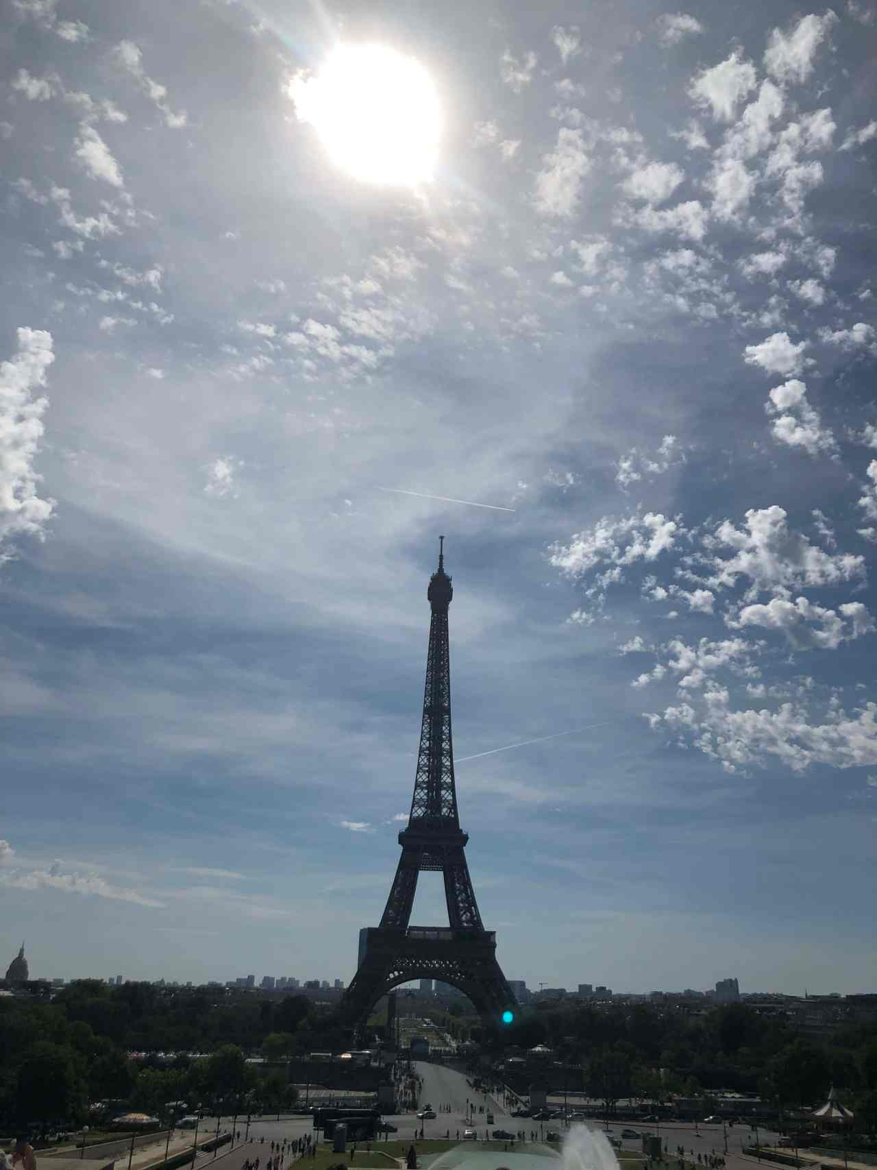 The Eiffel Tower on a sunny day
