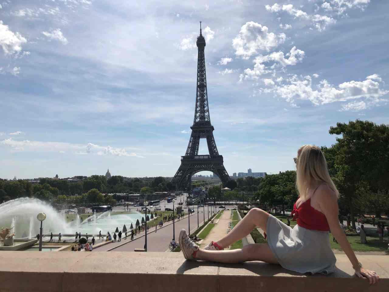 Trocadero Eiffel Tower Paris Instagram wall