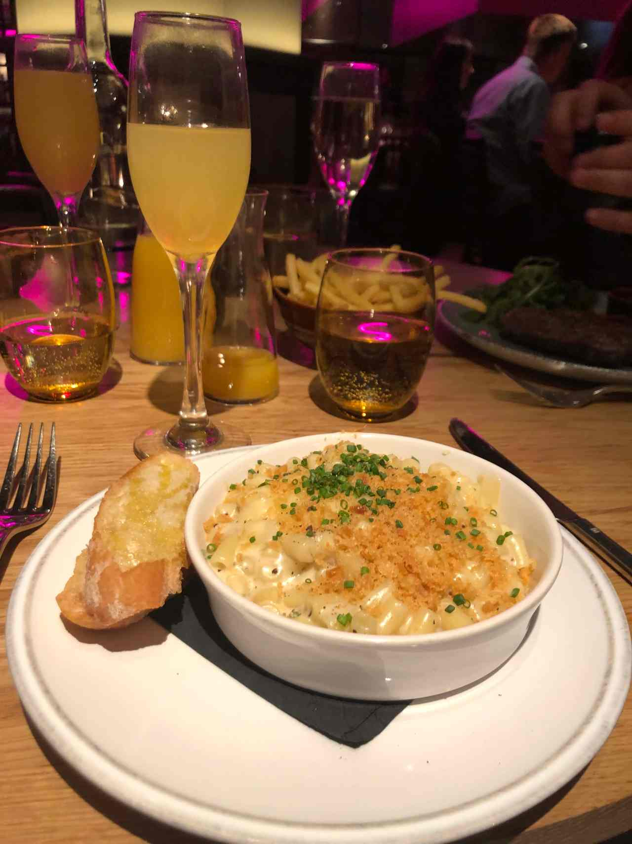 Mac and cheese with truffle breadcrumbs