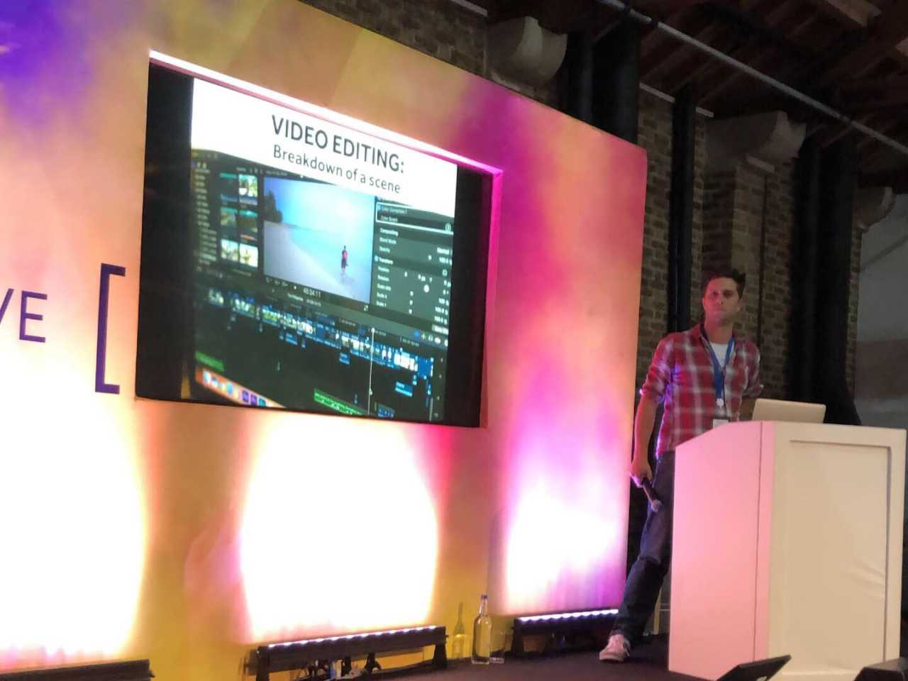 Karl Watson video editing Borderless live