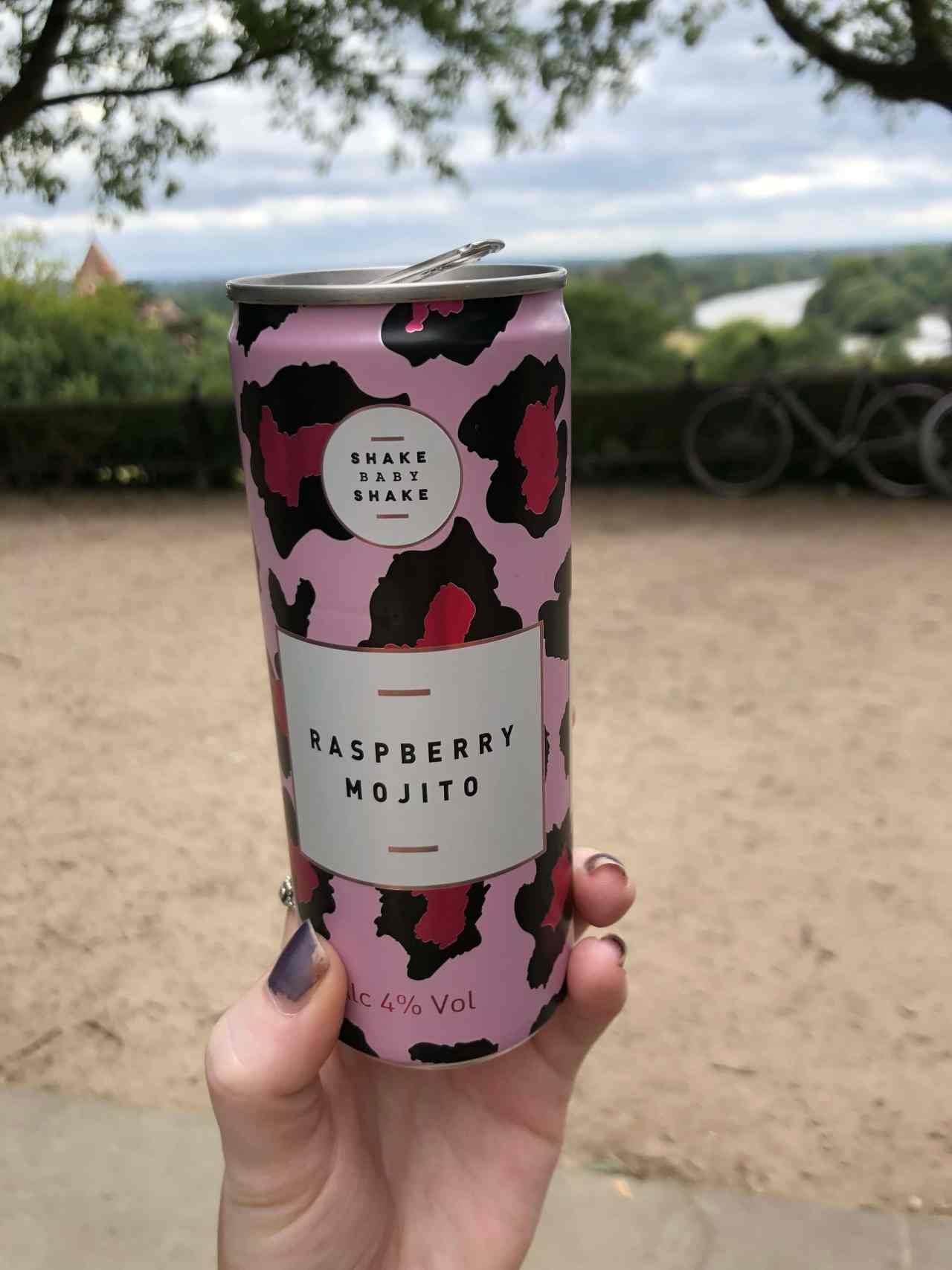 Shake baby Shake raspberry mojito with a view