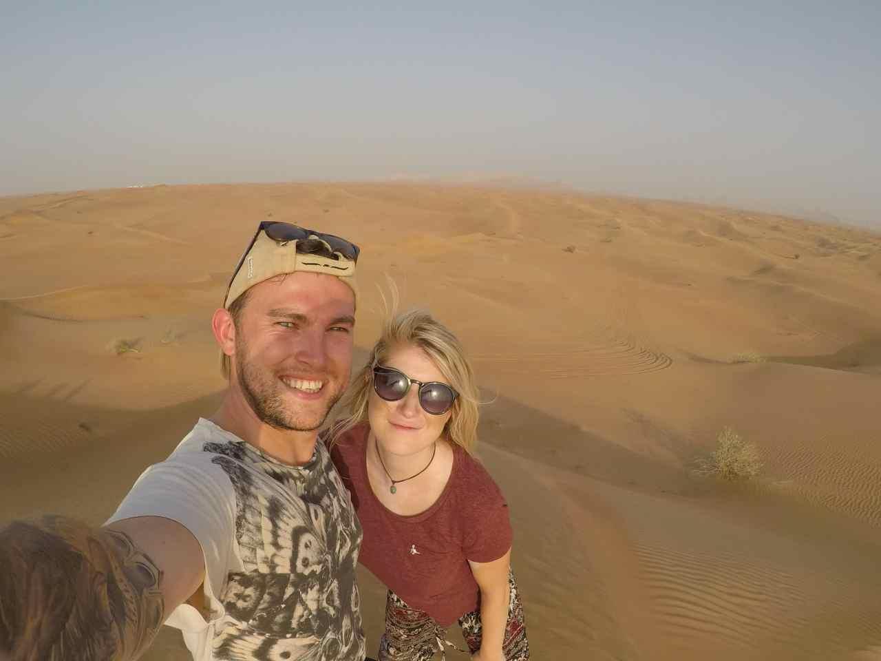 Desert selfie GoPro Dubai