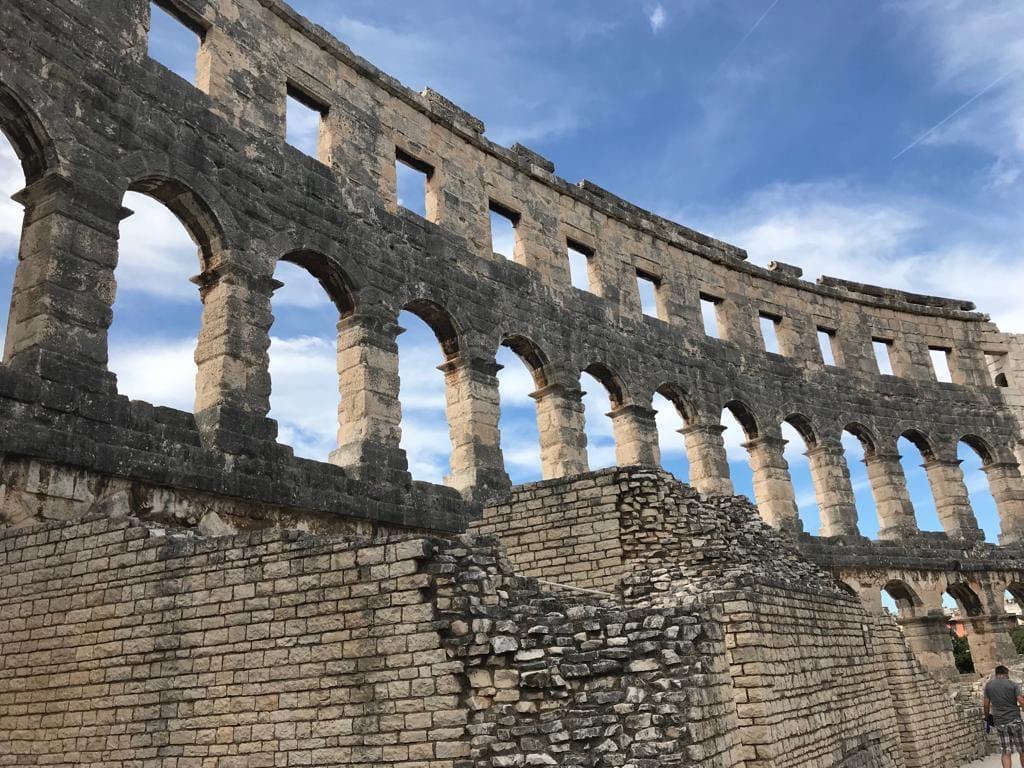 Pula colosseum wall