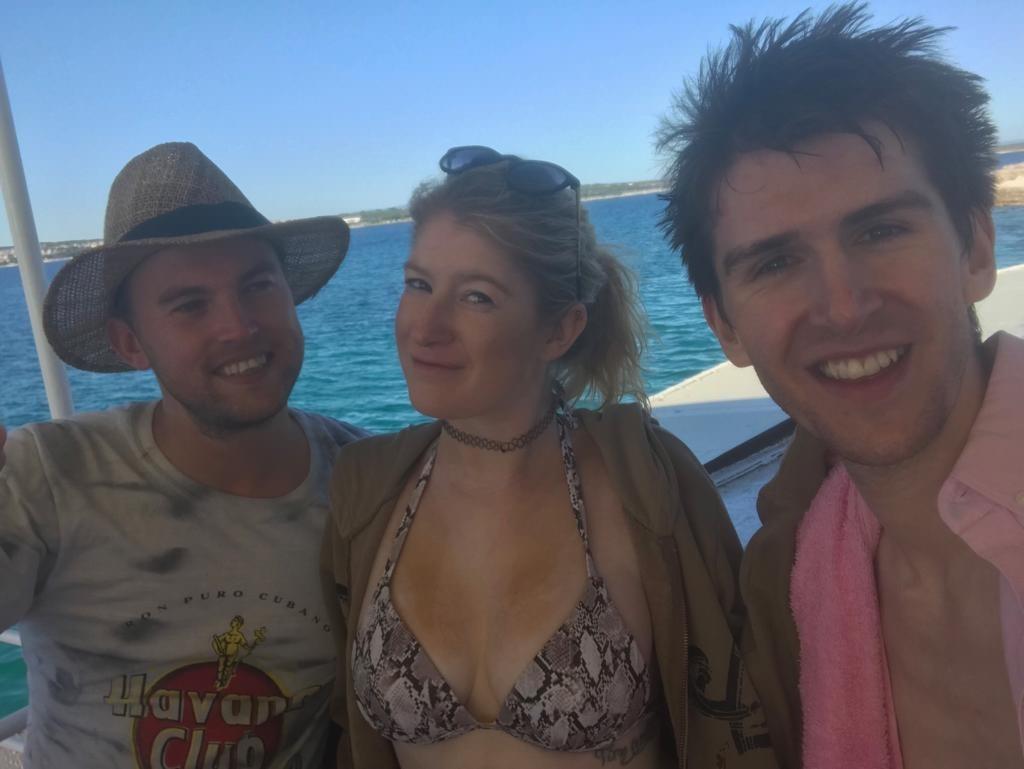 selfie on a boat