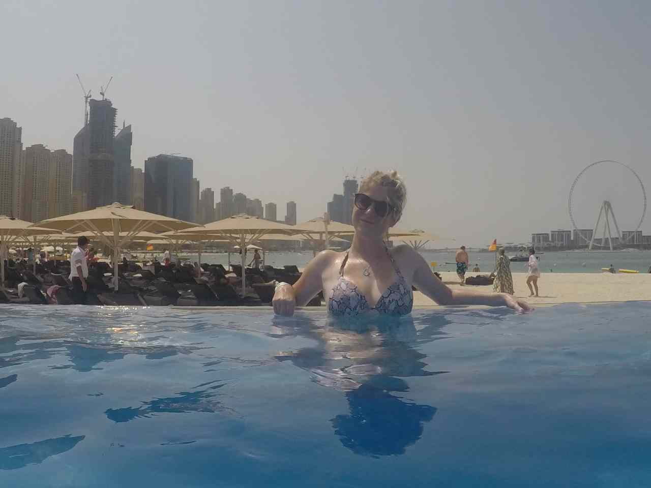 Infinity pool zero gravity Dubai