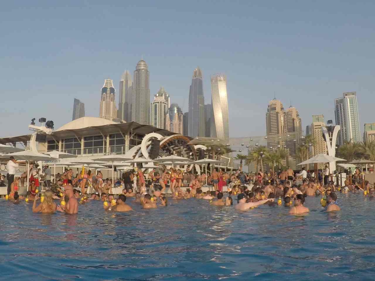 Pool party zero gravity Dubai