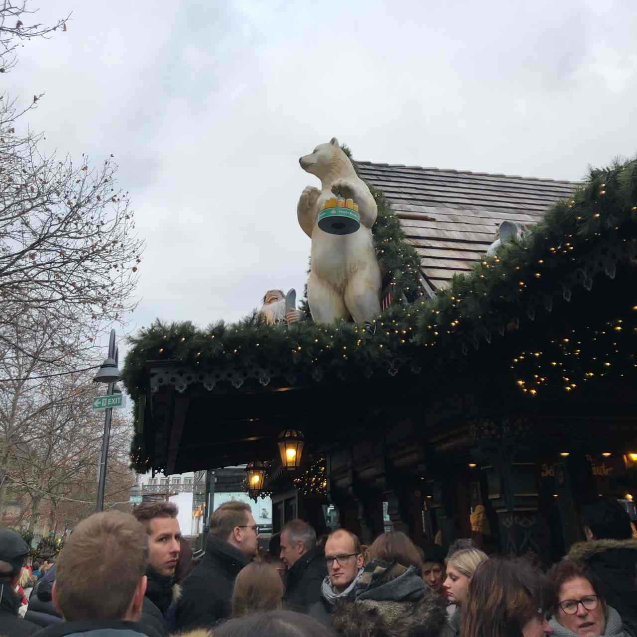 beer polar bear cologne christmas markets