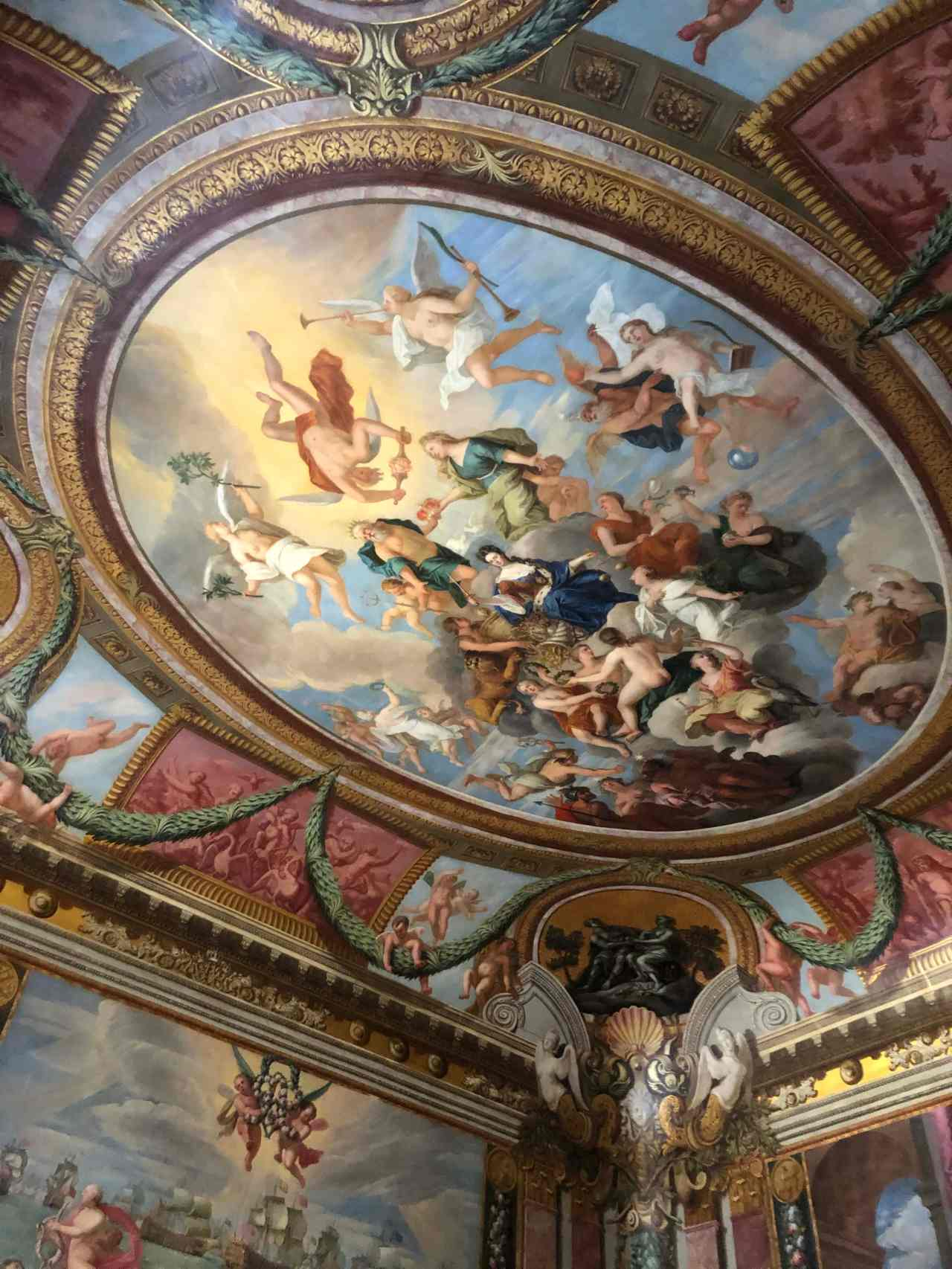 Hampton Court Palace ceiling