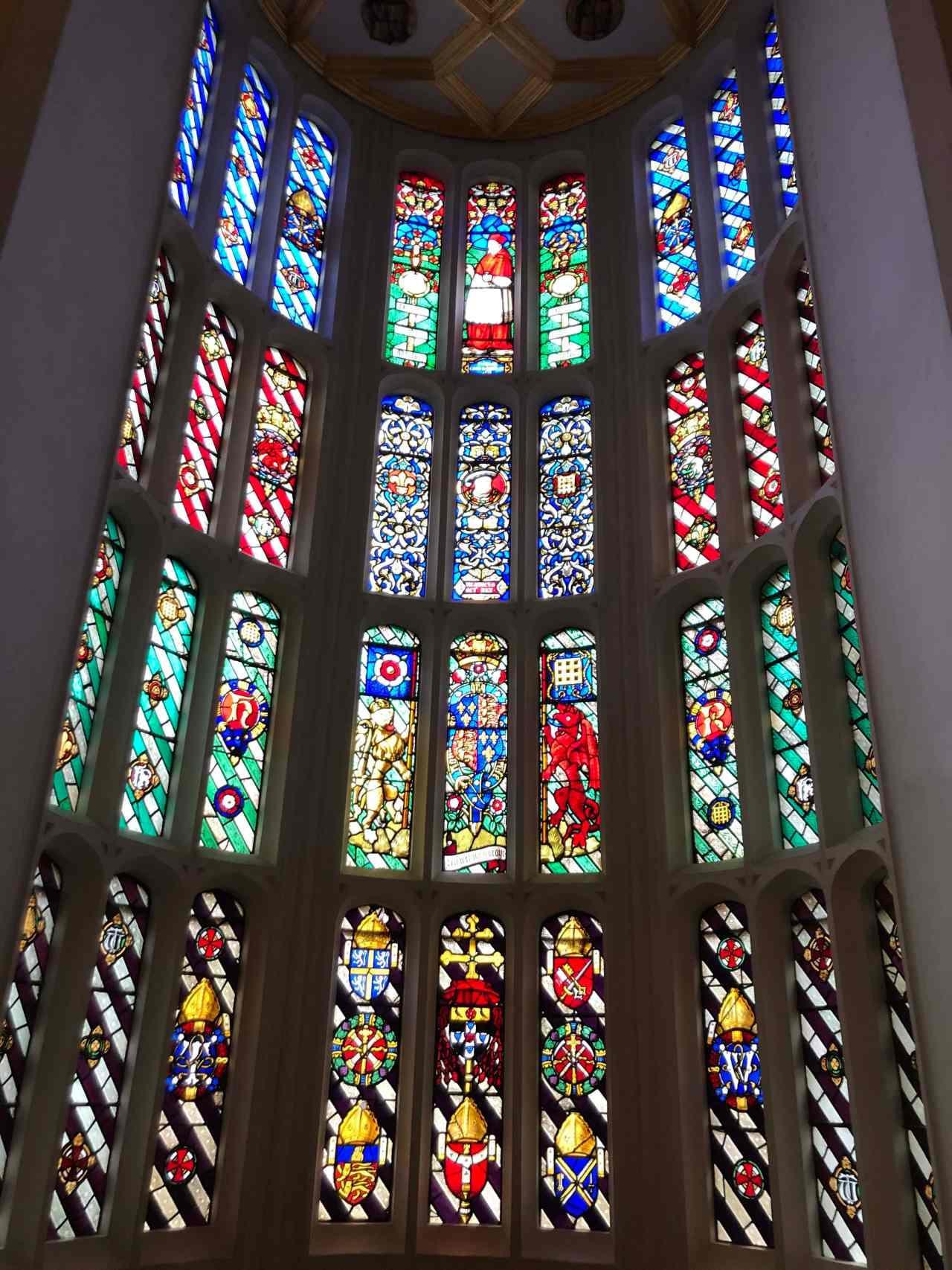 Hampton Court Palace stained glass window