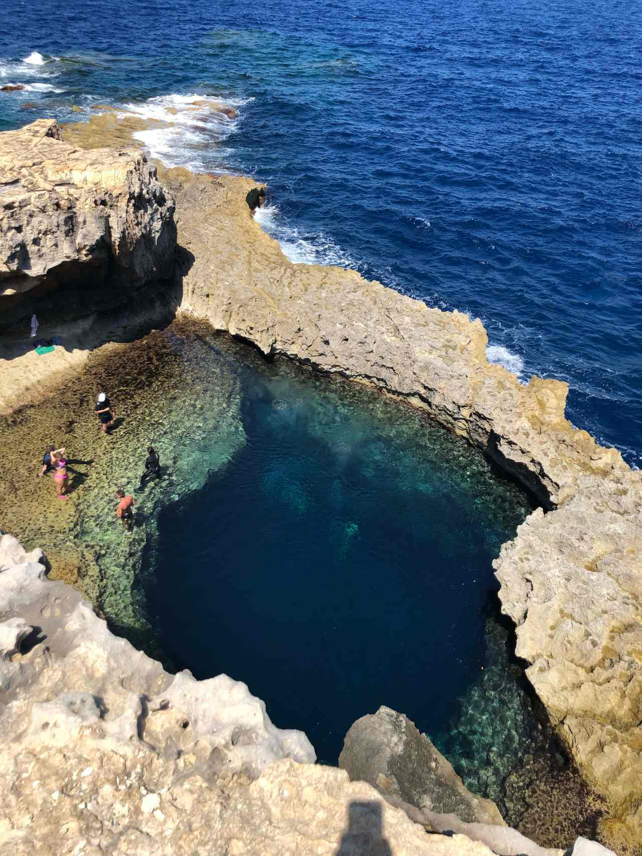the blue window diving gozo