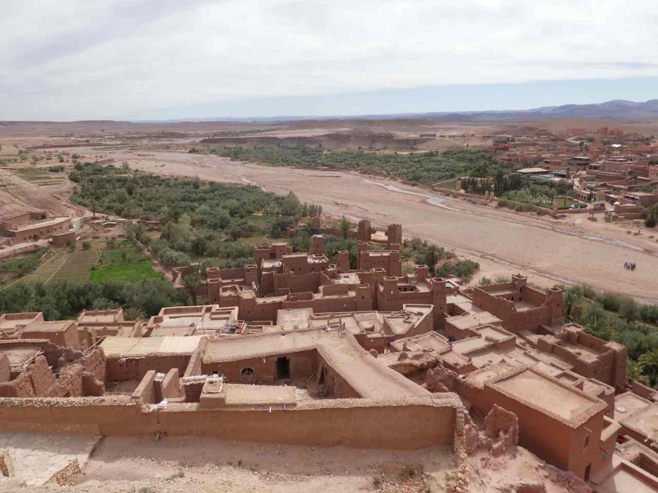 Ait Benhaddou traditional and modern villages