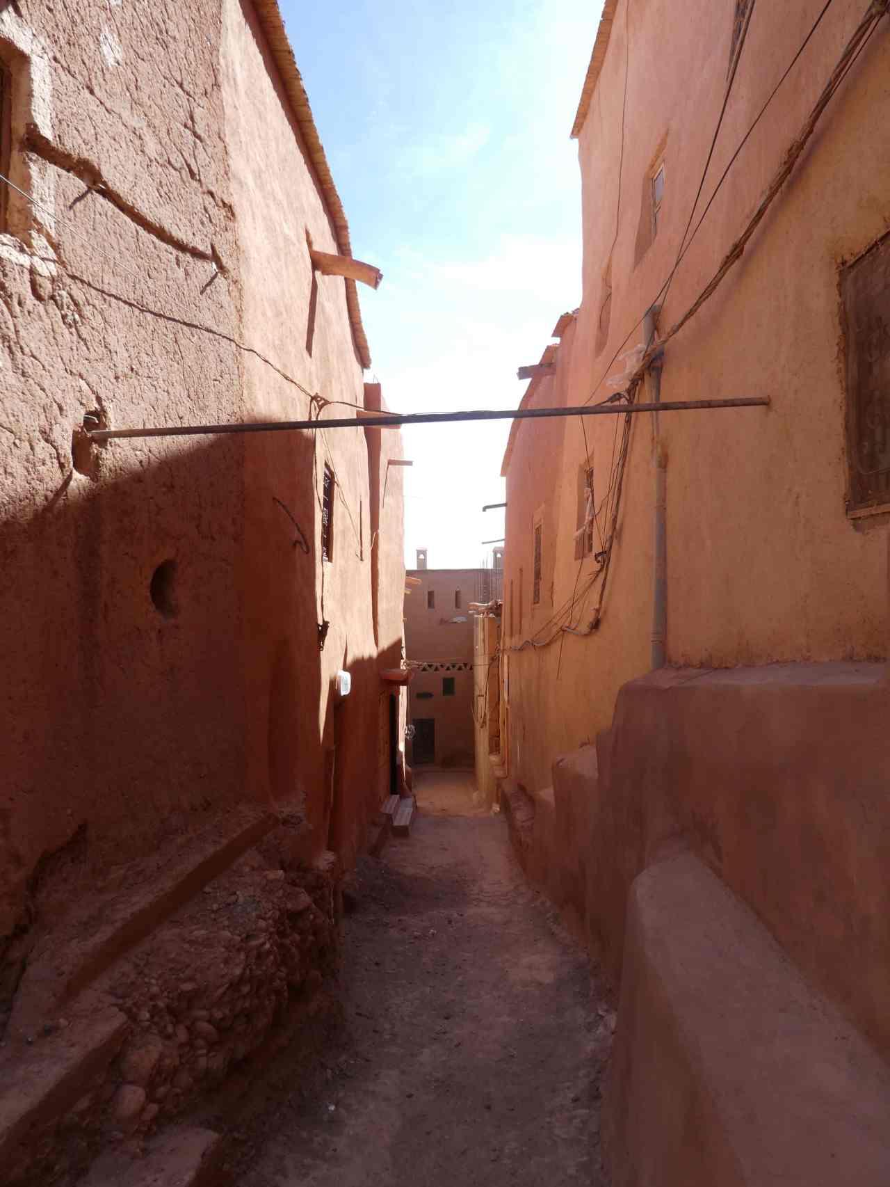 Narrow streets of Ouarzazate