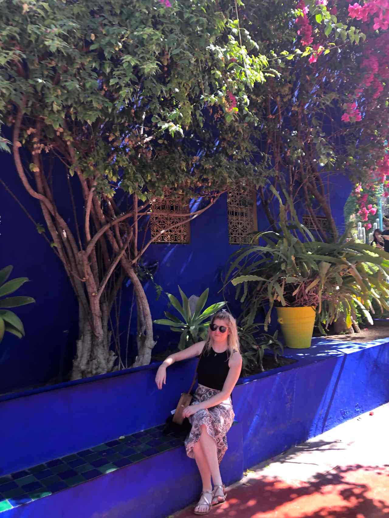 Colourful bench Le Jardin Majorelle