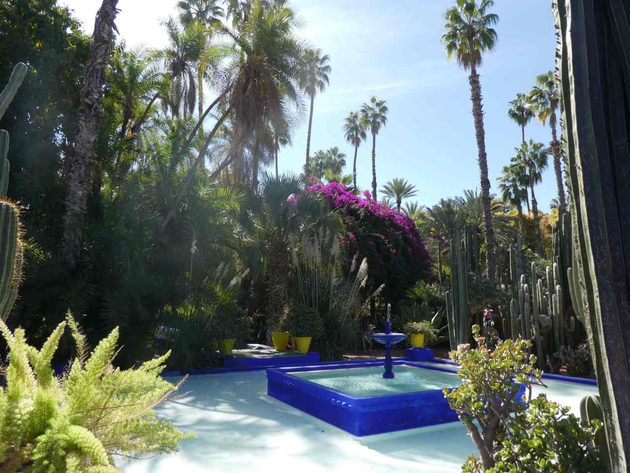 Fountain in Le Jardin Majorelle