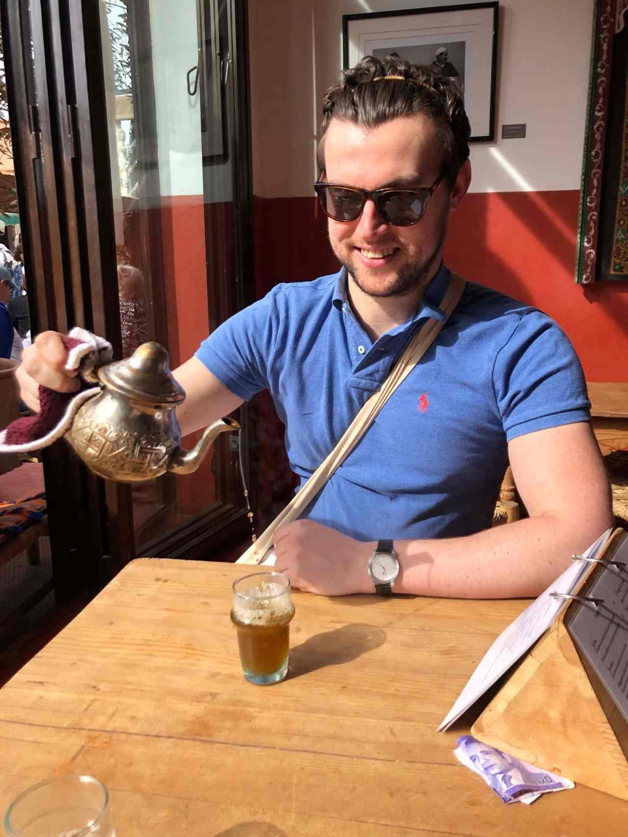 Tea pouring in Marrakech