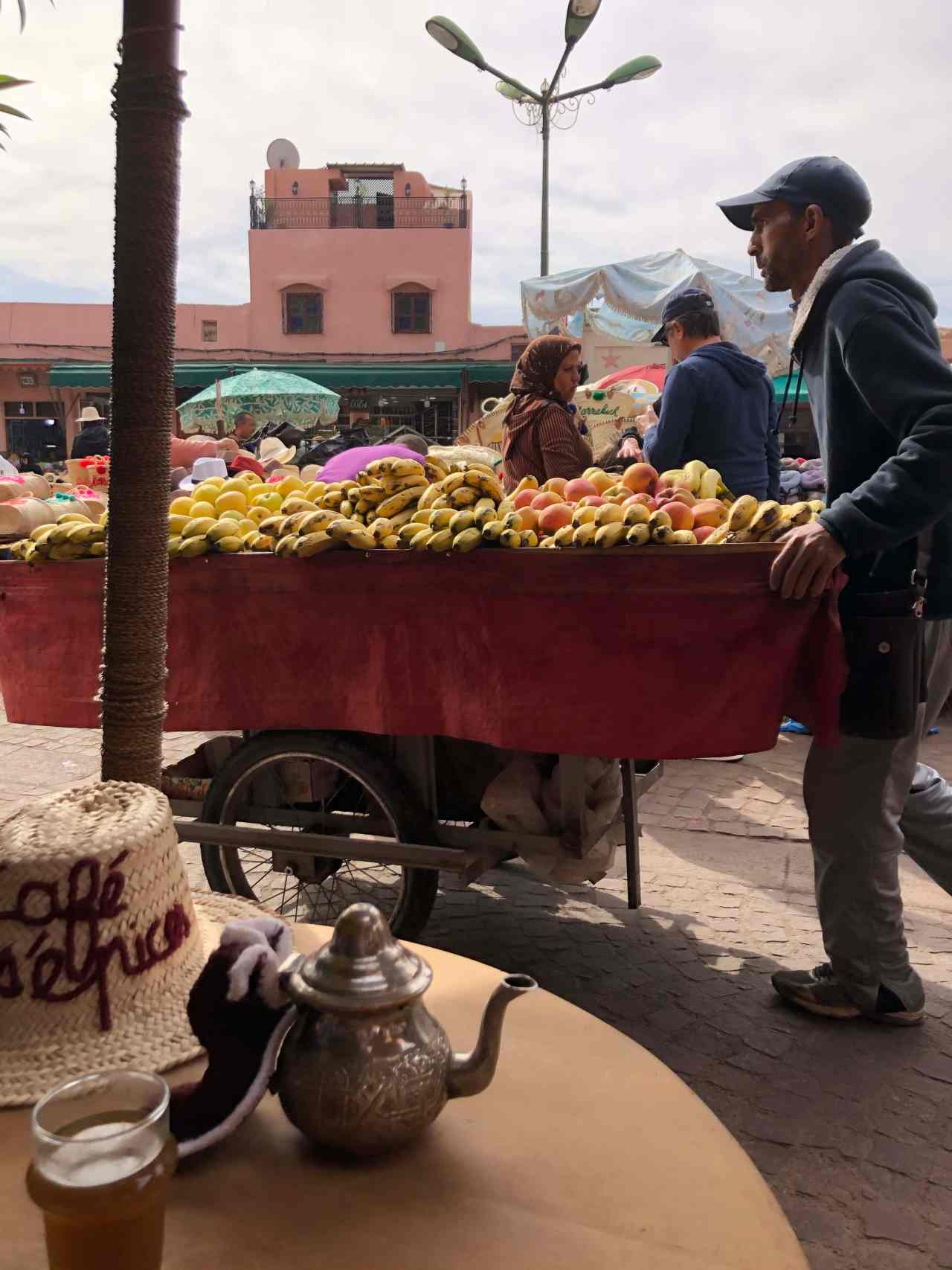 Fruite seller Marrakech souks