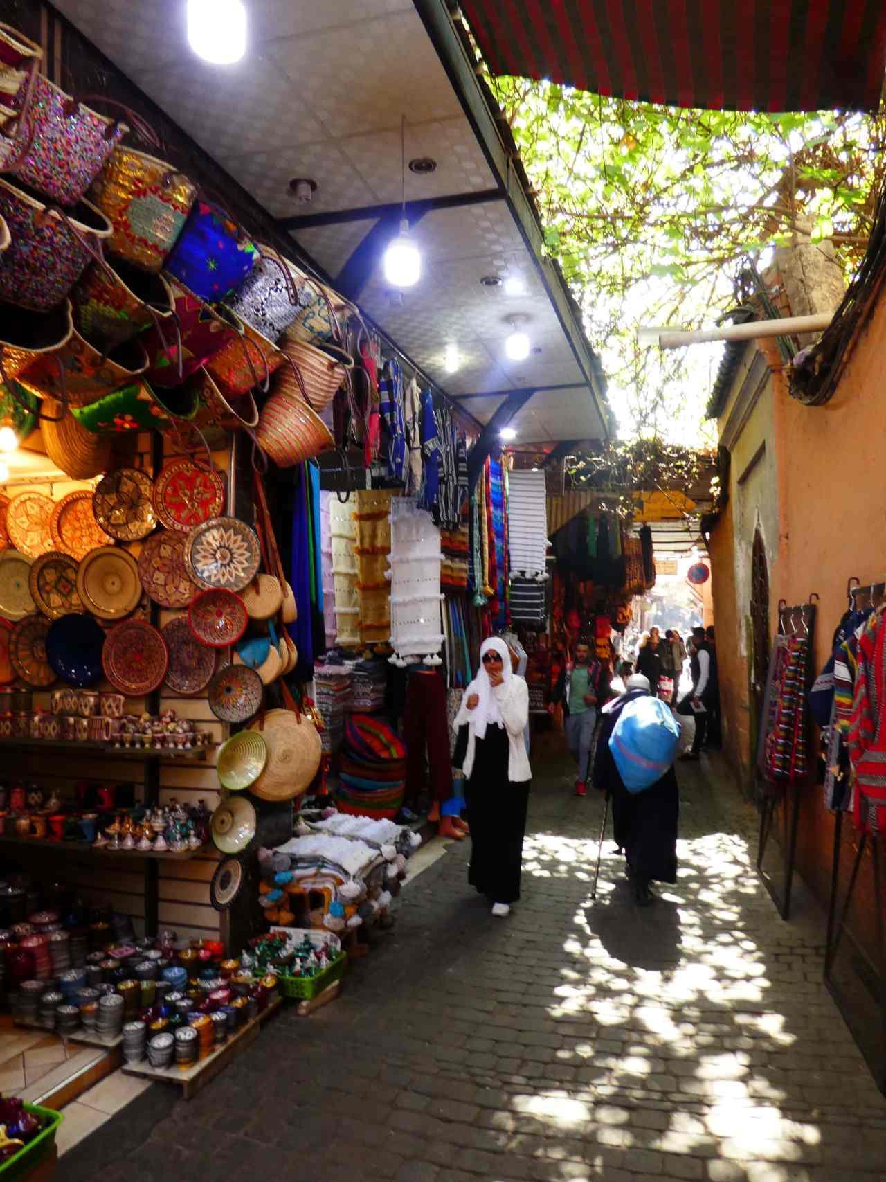 Souk streets Marrakech medina