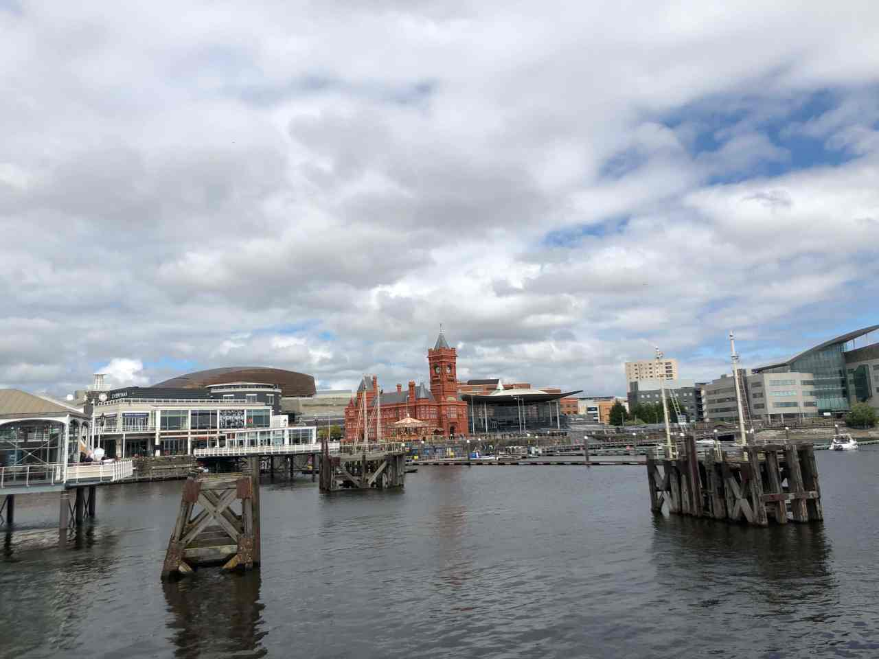 Cardiff bay during lockdown