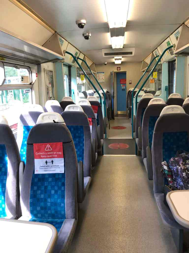 Social distancing on trains in Wales