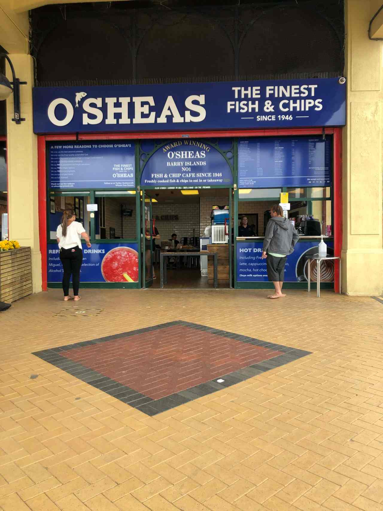 O'Shea's fish and chips barry island