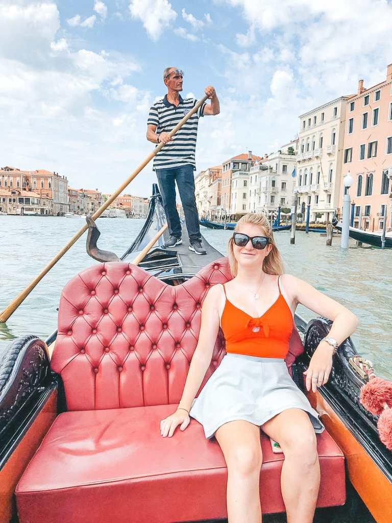 Gondola ride grand canal