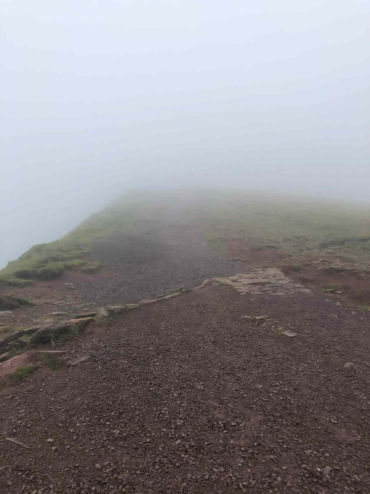 Pen Y Fan in cloud