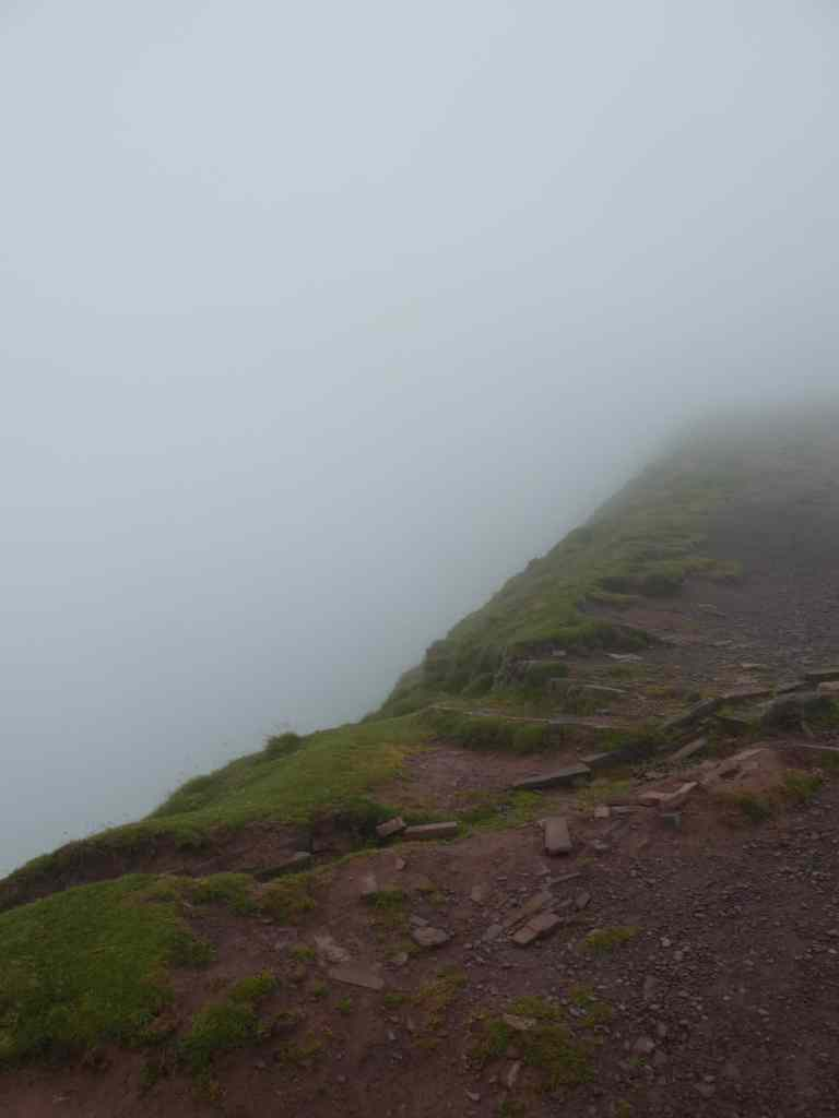 Pen Y Fan ridge in cloud