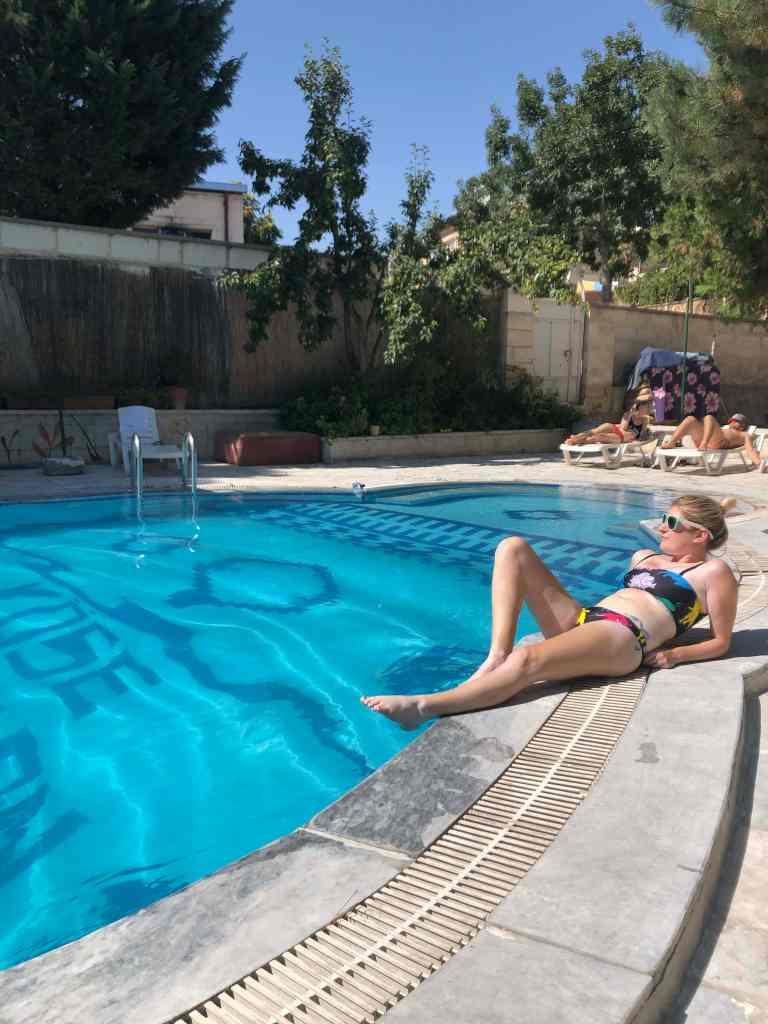 Kose Pension hostel pool Cappadocia
