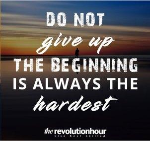 beginning is always hardest