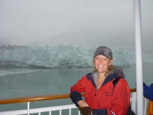 R.H. Roberts in front of Hubbard Glacier--amazing!