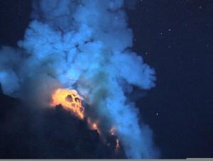 Submerged volcano