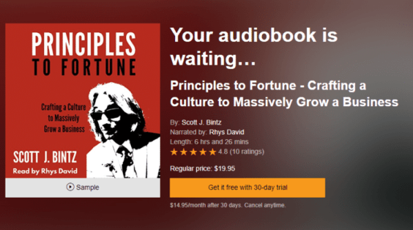 Principles to Fortune Audio Book