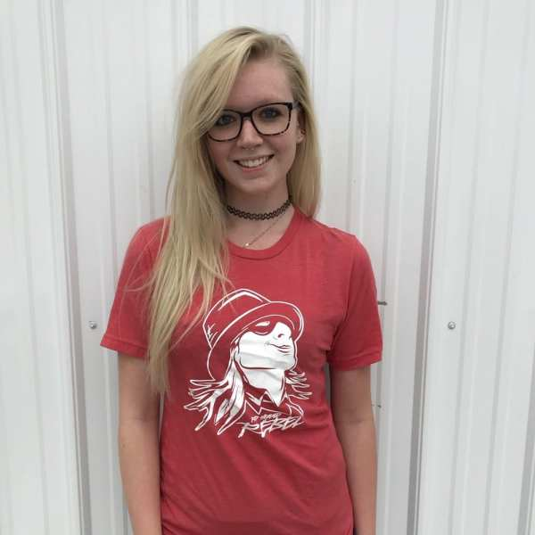 Red Headed Rebel® Washed Out T-Shirt on Girl
