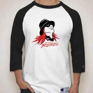 Red Headed Rebel Baseball Shirt