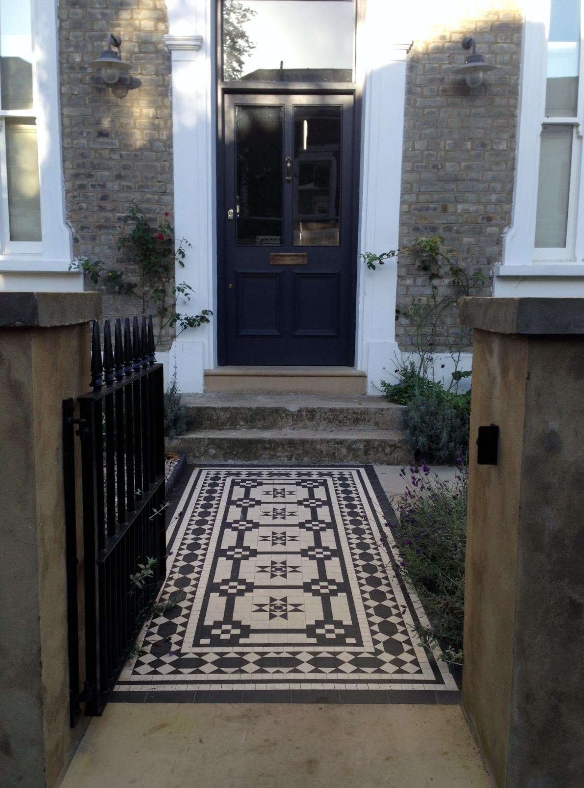 Islington Victorian Mosaic Tile Path York Stone Sandstone