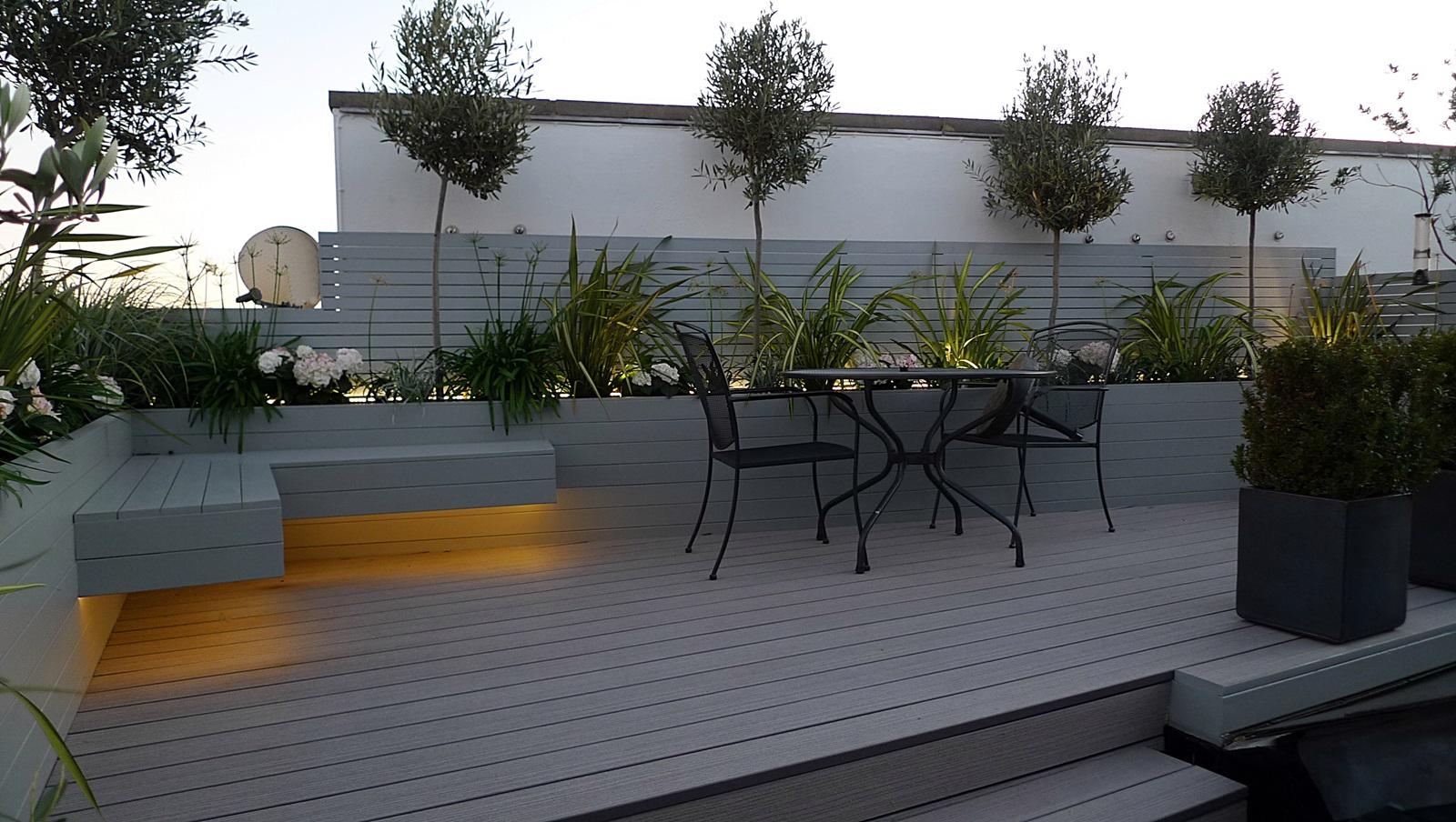 Roof Terrace Modern Garden Design - London Garden Blog on Modern Back Garden Ideas id=14510