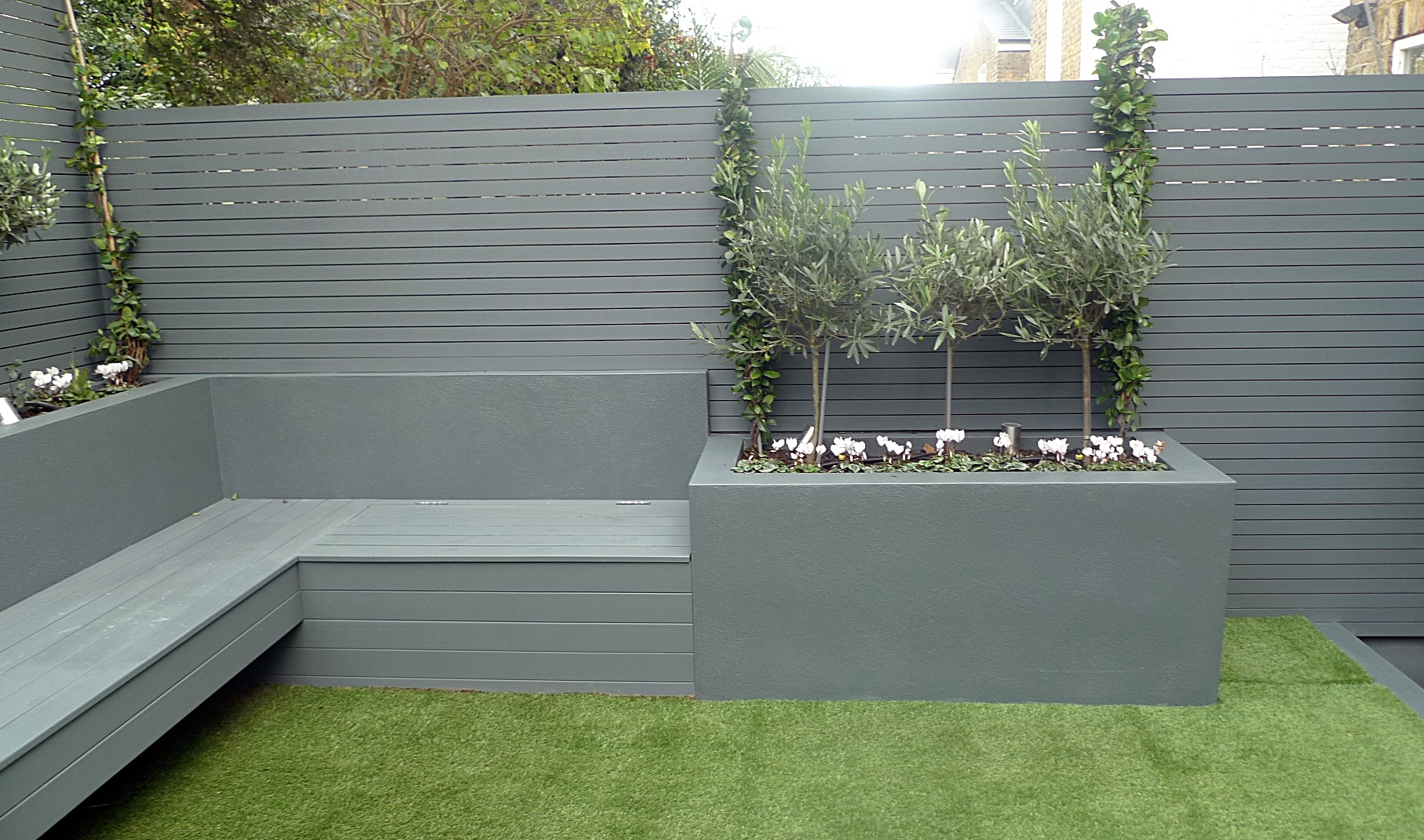 Tall Grey Planters Uk