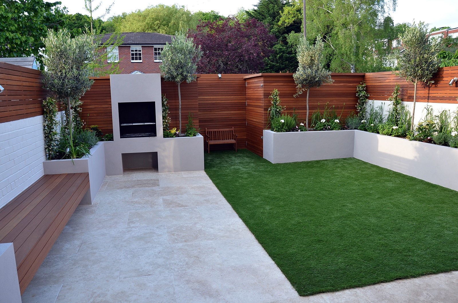 Modern garden design Fulham Chelsea Clapham Battersea ... on Modern Backyard Patio Ideas  id=64373