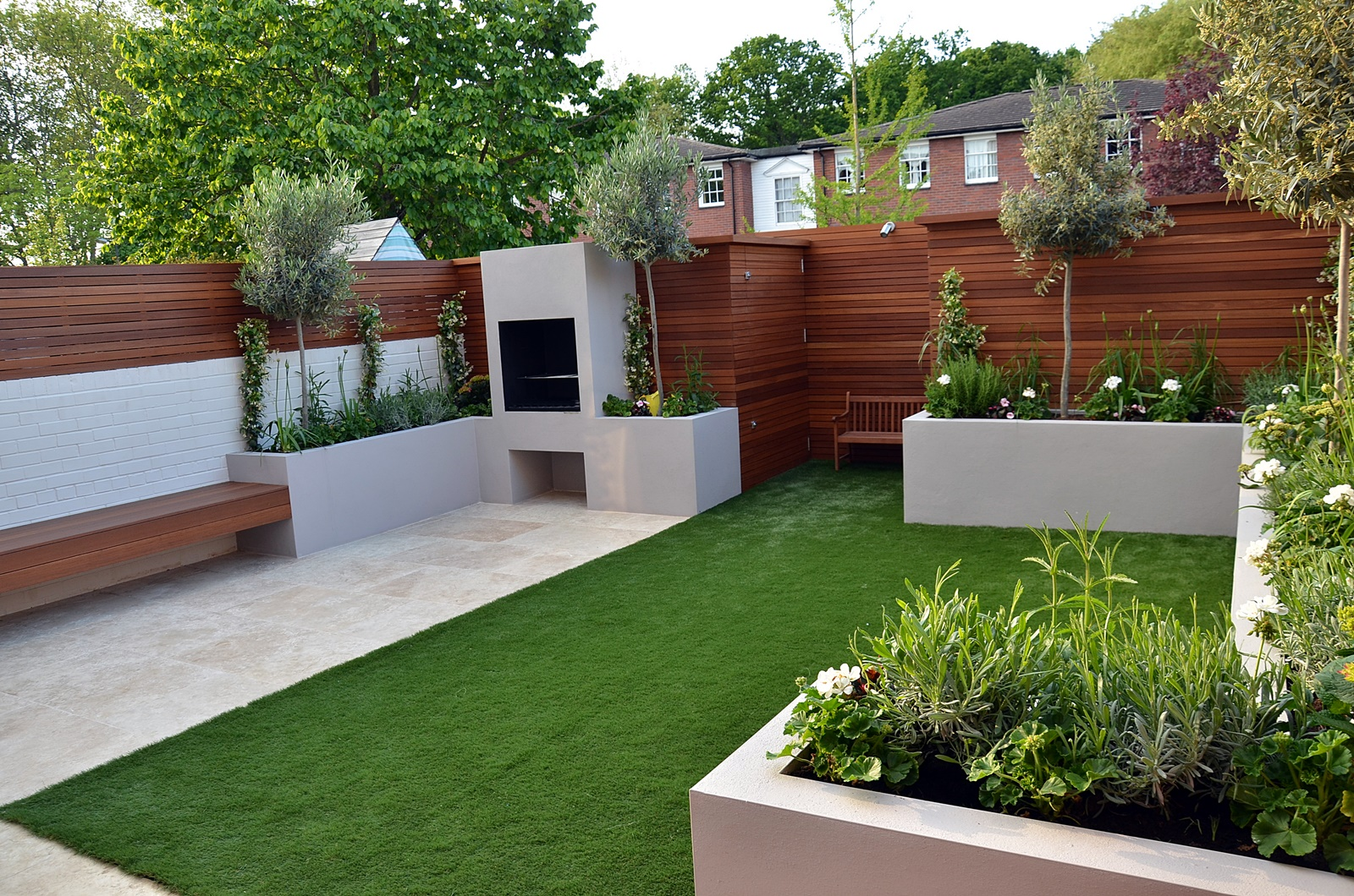 Modern garden design Fulham Chelsea Clapham Battersea ... on Backyard Patio Layout id=58615
