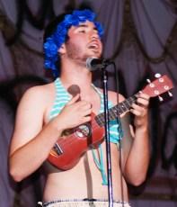 Mike McCauley's ukelele solo won the hearts of the judges