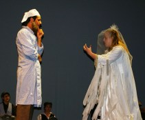 Tevye receives a visit from Fruma played by Kayla Fraser.