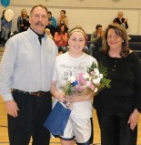 Sarah Royle with her father Craig and mother Leslie Royle