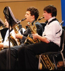 Chris Carchedi and Michael Bailey played the Baritone Saxophone