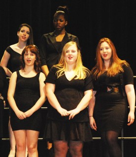 Back l to r: Bailey Olsen, Nheillya Rouse. Front row: Samantha Chandler, Kayla Frazer, Alexis Hogan.