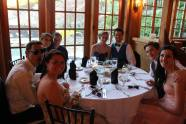 Kylie Langhoff, Ian Hass, Leah Benson, and Devin Gilmore with their dates