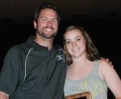 Mr.Johnson with Senior Erin Pratt