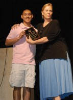 Kevin Nguyen and Mrs. Patton