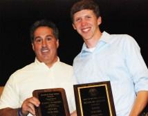 Mr.Grazino with Senior Kevin Strobel