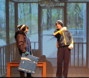 """Danielle Hill as Rhonda and PJ Butler as Dave in """"Seeing the Thing"""""""